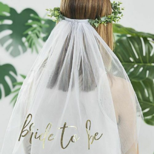 Eucalyptus Bride To Be Veil